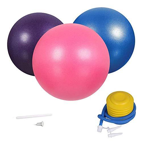 3Pcs Mini Exercise Balls, 9-10 Inch Professional Grade Anti Burst Heavy Duty and Slip Resistant Small Pilates Ball for…