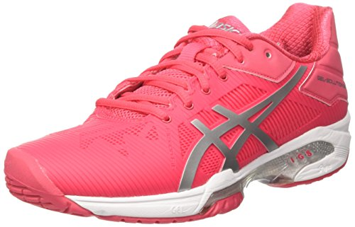 Asics Gel-Solution Speed 3 - Zapatillas de Tenis Mujer Multicolor (Rouge Red/Silver/White)