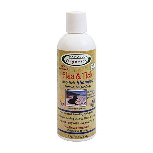 Mad About Organics DFTS8 Dog Flea & Tick Shampoo 8oz