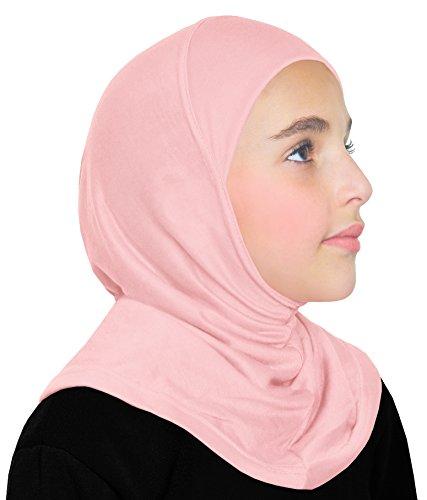 Girls Cotton Hijab 1 piece Amira Headscarf (Pink)
