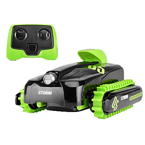 Tritow Electric Remote Control Off-Road Car Amphibious Four-Wheel Drive Off-Road Deformation Vehicle Children's Waterproof Tracked Remote Control Boat Boy Toy Gifts (Color : Green) (8 Wheel Drive Amphibious Off Road Vehicle)