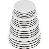 Round Greaseproof Cake Boards - White Cake Circle Base, 6/8/10/12 inch, 5 of Each Size