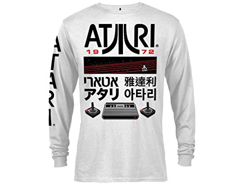 Ripple Junction Atari Logos and Icons Adult Long Sleeve Shirt Small White