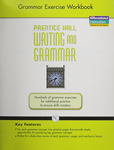 WRITING AND GRAMMAR EXERCISE WORKBOOK 2008 GR12