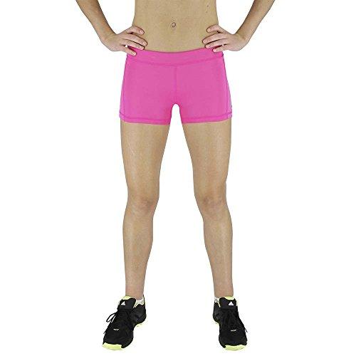 Adidas AJ2229 Womens 3 Techfit Boy Short, Shock Pink/Pink Glow/Matte (Adidas Compression Shorts Techfit)