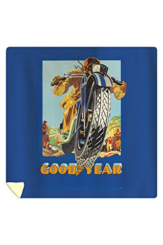 Goodyear Vintage Poster (artist: Anonymous) Spain c. 1928 (88x88 Queen Microfiber Duvet Cover) by Lantern Press