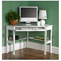 White Corner Office Dorm Desk