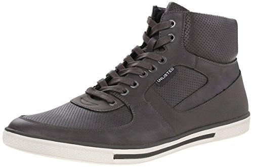 Kenneth Cole Unlisted Men's High Crown Fashion Sneaker, Grey, 9.5 M US
