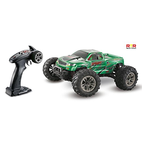 :16 High Speed 36km/h 4WD 2.4Ghz Remote Control Truck 9130 Off-road RC Car (Green) ()
