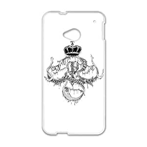 Caseclothing Elegant Crown-Monogram Case Sleeve Protector for Phone HTC One M7 (Laser Technology)