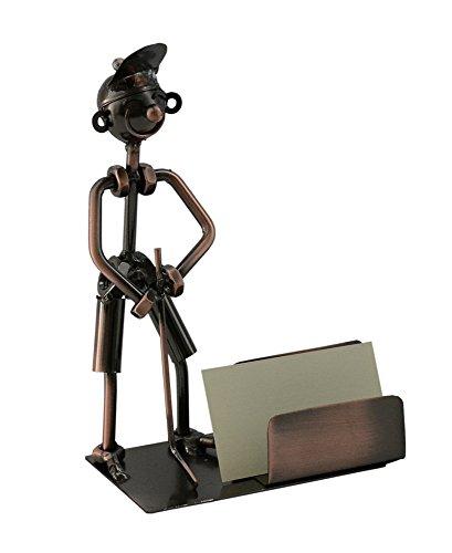 Metal Golfer Business Card Holder Character Desk Display and Orginizer
