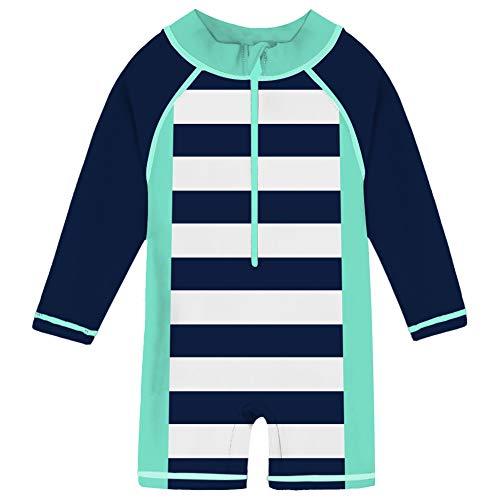 524fc2954e8 uideazone Boys Baby Kids Long Sleeve Swimsuit 1 Piece Sun Safe Swimsuit  Beach Swimming Costume UV 50+ 24-36 Months