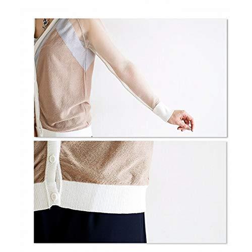 サワアラモード(sawa a la mode) 腕は透け感と爽やかなブラウンサマーカーディガン