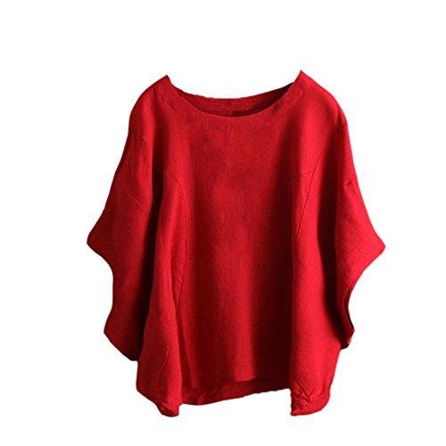 Base S Chemise Polyester Soie Courtes Jersey Bleu de Manches Fit Casual Lin Womens Chemises Noir Manches en Couleur Rouge Pure Mousseline col Oblique Licou Loose 5XL de Jupe Longues Blouse wSnqZz