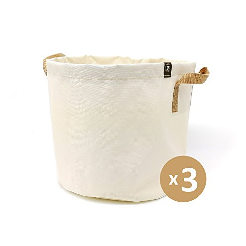 Snail Garden: 3-Pack 3 Gallon Grow Bags (White) by Snail Garden