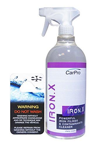 CarPro Iron X Iron Remover 1 Liter with Sprayer, Cherry - Iron X