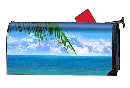 - Tollyee Blue Beach Scenes Seasonal Mailbox Covers,Unique Magnetic Mailbox Magnetic Mailbox Cover 9