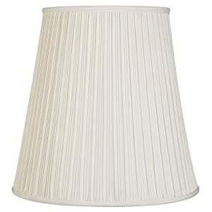 Creme Mushroom Pleat Lamp Shade 12x18x18 (Spider)