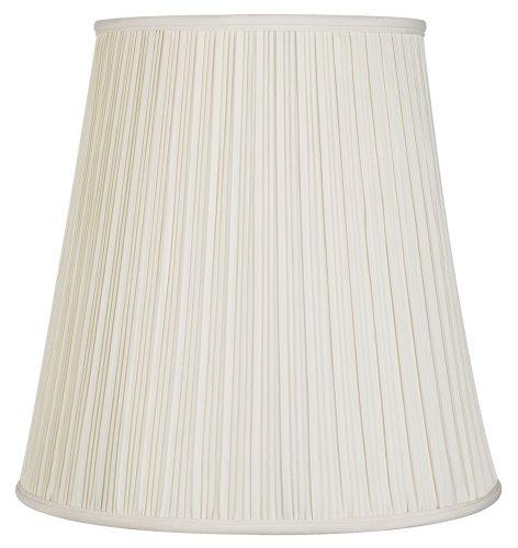 Creme Mushroom Pleat Lamp Shade 12x18x18 (Spider) - Mushroom Shade Table Lamp