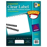 Index Maker, Laser, Unpunched, 8-Tab, White, 5-Set