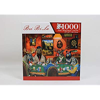 DURIANNER Limited Edition Animal Game Puzzles 1000 Pieces Jigsaw Puzzles for Kids Children Teen Adults Play Toys Gift Family: Toys & Games