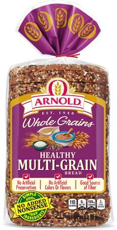 Arnold Bread Hearty Classic Healthy Multi Grain Wide Pan Loaf, 24 OZ Arnold Whole Grain Bread
