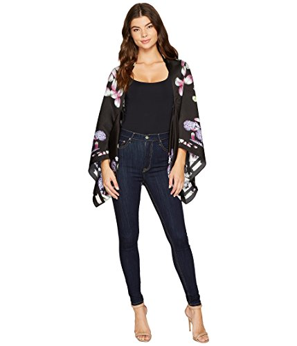 Ted Baker London Women's Kensington Floral Cape, black, One Size by Ted Baker