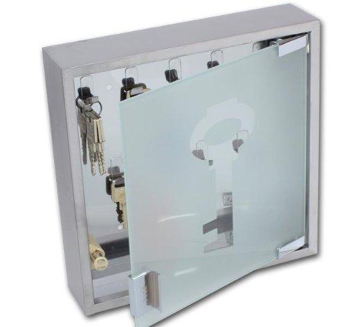 Design Schlüsselkasten Edelstahl Glas Schlüssel Modell ELECSA 1017