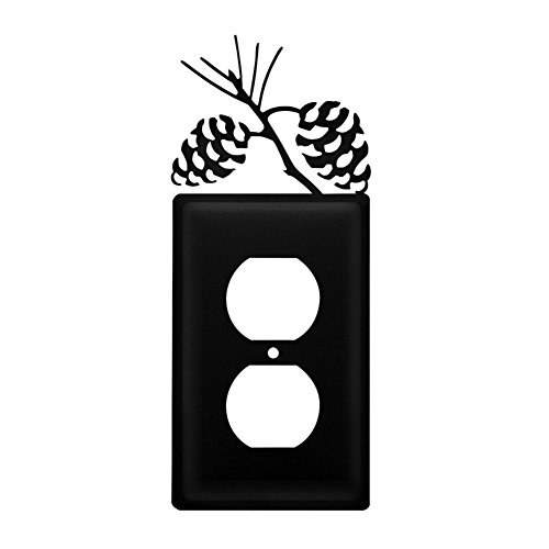 Iron Pine Cone Outlet Cover - Heavy Duty Metal Light Switch Cover, Electrical Outlet Covers, Lightswitch Covers, Wall Plate Cover ()