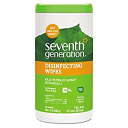 Seventh Generation SEV 22813 Botanical Disinfecting Wipes, 7\