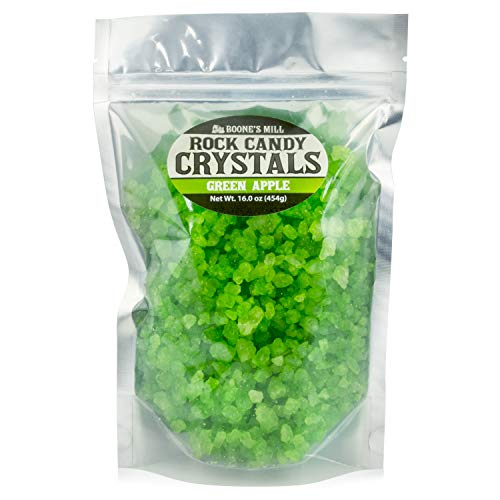 Light Green - Green Apple Rock Crystal Candy | 1 Pound In A Resealable Stand-Up Bag | Boone's Mill ()