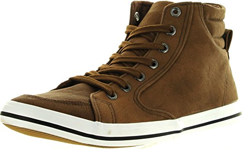 Arider Ar5011 Mens Fashion Classic High Top Lace Up Sneaker Comfort Casual Shoe,Camel,7.5