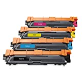Jingle Jingle 4-Pack Compatible Toner Cartridge Replacement for Brother TN221 TN225 Works with Brother MFC-9130CW HL-3170CDW MFC-9330CDW HL-3140CW MFC-9340CDW HL-3180CDW HL-3150CDN Laser Printer