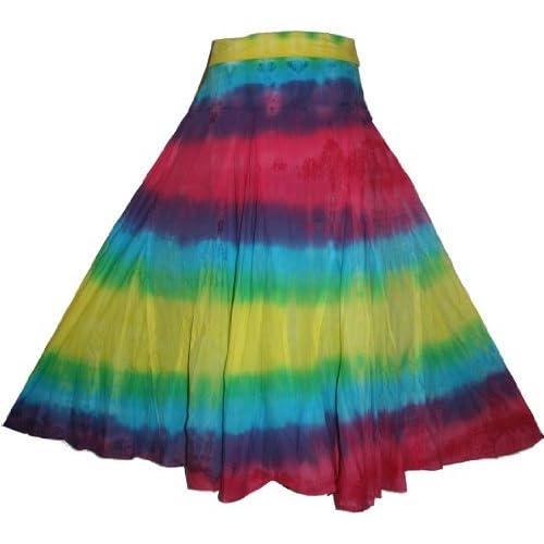 80bc3f0499166 61 SK Agan Traders Boho Bohemian Summer Tie Dye Gypsy Skirt