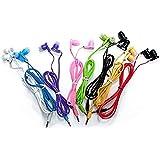 JustJamz 10 Pack 3.5mm Stereo In-Ear Earbud Headphones - Earphones (Assorted Colors)