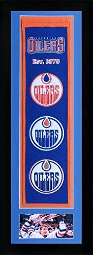 Legends Never Die NHL Edmonton Oilers Team Heritage Banner with Photo, Team Colors, 15