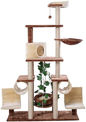 FTFDTMY Großer mehrschichtiger Katzenkletterrahmen, Katzenvilla Tierhandlung Kleintiere Spielzeug Wohnzimmer Kratzbaum…
