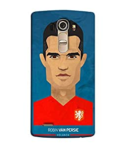 ColorKing Football Persie Holand 01 Blue shell case cover for LG G4