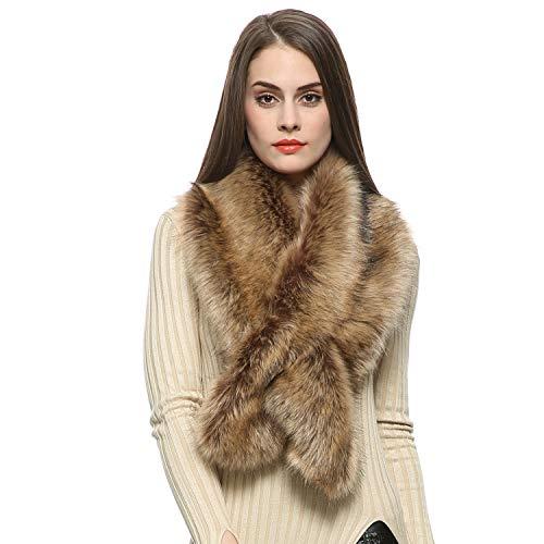 Dikoaina Women's Faux Fur Collar