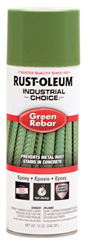 Industrial Epoxy Paint - RustOleum 261937 Green 1600 System Epoxy Rebar Aerosol, 12 Fl Oz Container Size, Can (Pack of 6)