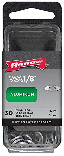 New Arrow Wa1/8 Pack (30) 1/8 Aluminum Pop Rivet Flat Washers 6722656 -
