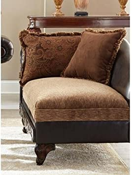Coaster Garroway 550020 59 Chaise with Pocket Coil Seating Solid Rubber Wood Legs Accent Pillows Reversible Cushions