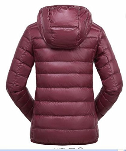 Ultra Packable Generic Wine Red Women's Padded Light Hoodies Coats Down rAtEtSnx
