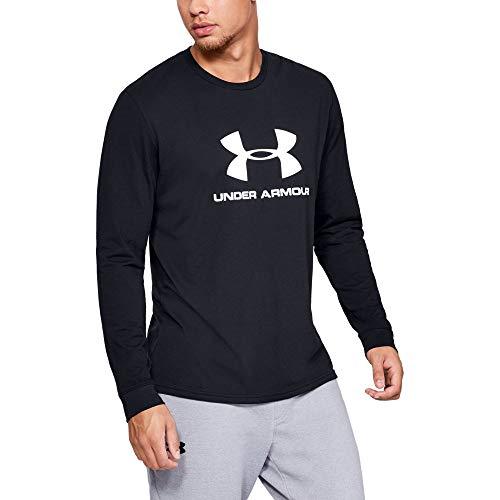 Logo Black And White (Under Armour Sportstyle Logo Long Sleeve, Black//White, Medium)
