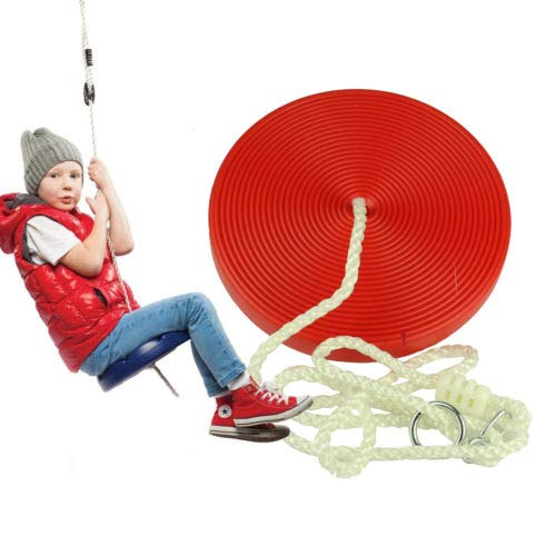 FidgetGear Rope Tree Swing Set, Sturdy Plastic Disc with Nylon String Hangs from Tree from FidgetGear