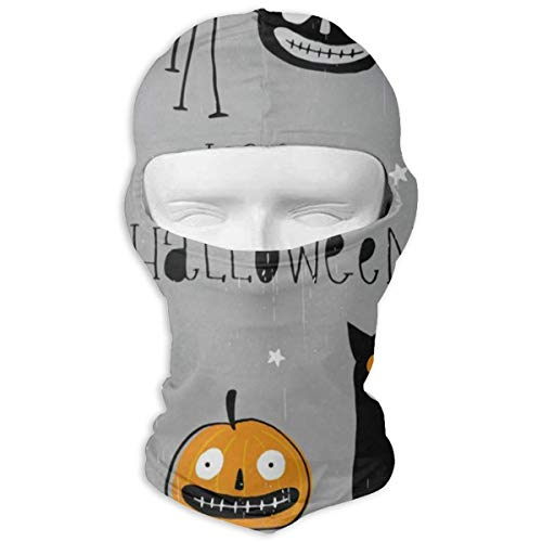 (Balaclava Freaky Black Cat Angry Pumpkin Spider Clown Full Face Masks UV Protection Ski Hat Headwear Motorcycle Hood for Cycling Snowboard Women)