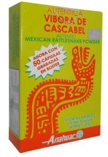 Vibora de Cascabel 50 capsules, Authentic Mexican Rattlesnake Powder, Dietary Supplement