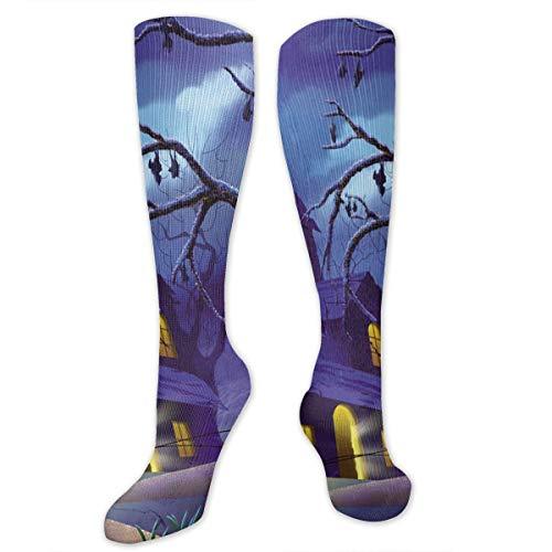 GOD TRUST Men&Women Halloween Knee High Socks Warm Over Boots Stocking Trendy Long Socks ()