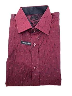 English Laundry Men Long Sleeve Cotton Stretch Button Down Dress Shirt