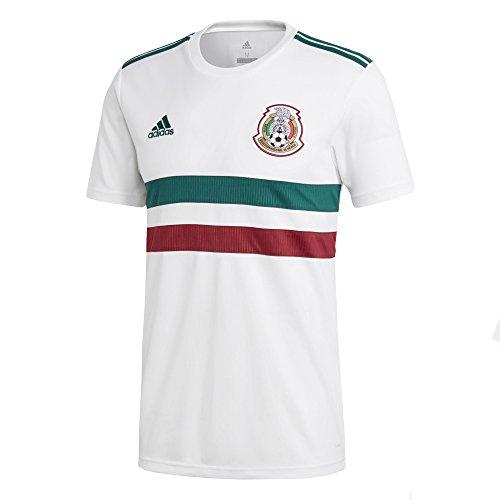 c754cb8dc78 adidas Men s 2018 Mexico Away Replica Jersey White Collegiate  Green Collegiate Burgundy Large